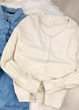 Льняная рубашка оверсайз  mango🔥