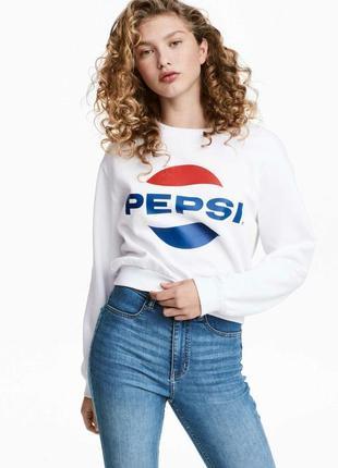 Свитшот свитер с принтом пепси