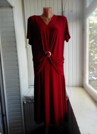 Красное платье большого размера батал