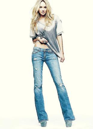 Брендовые стильные джинсы bell-bottom
