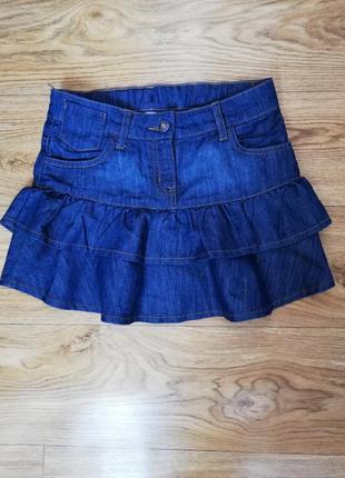 Юбка юбочка джинсовая на девочку 9-10 лет