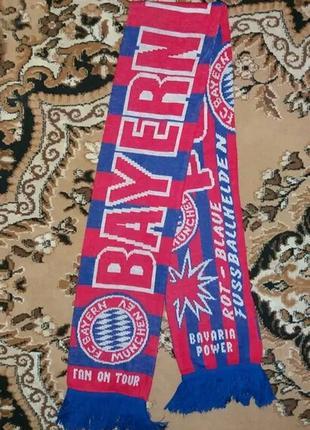 Футбольный шарф fc bayern münchen, бавария мюнхен