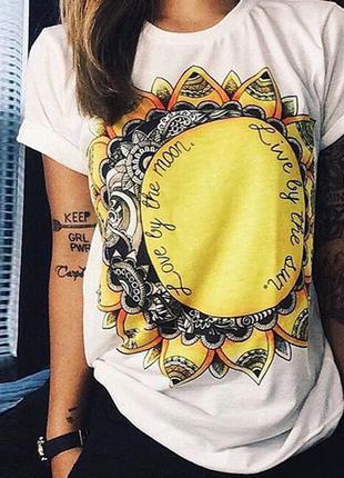 Крутая футболка с модным принтом l-m