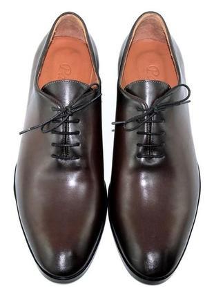 Тренд 2020 шикарные стильные туфли мужские кожаные 3 цвета