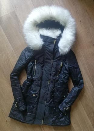 Куртка, курточка, парка, с шикарным мехом
