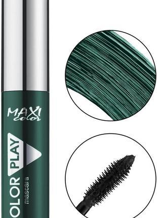 Тушь maxi color color play mascara (зеленая)