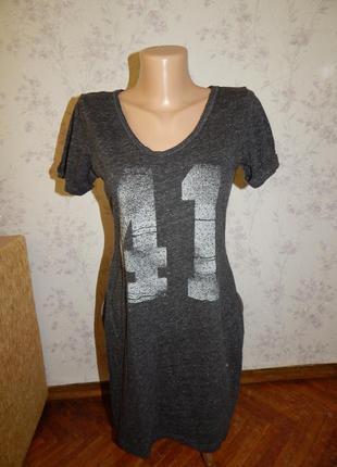 H&m ночнушка трикотажная, домашнее платьеце рs