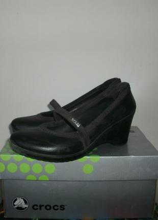 Туфли crocs на платформе