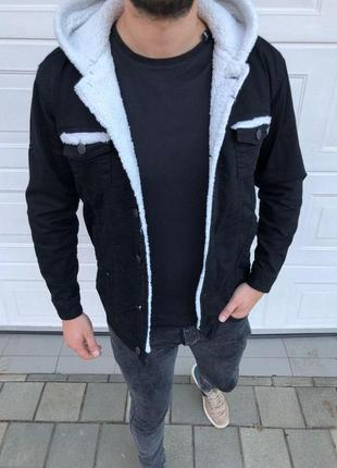 Пиджак джинсовый (внутри овчина)