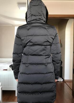 Длинный пуховик пальто massimo dutti
