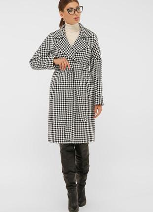 Модное молодежное стильное теплое шерстяное пальто