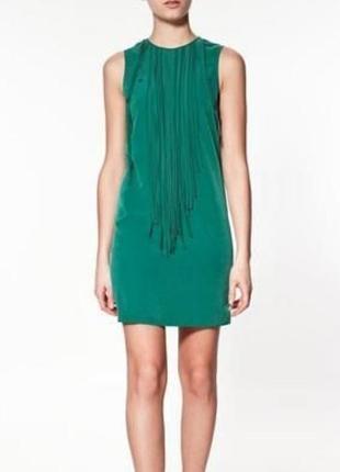 Платье с молнией на спине zara