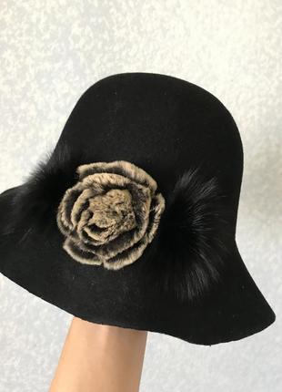 100 % шерсть шляпа
