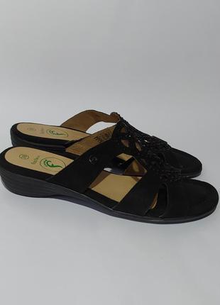Footflexx оригинал кожаные шлёпки шлёпанцы размер 38