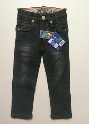 Супер джинсы чёрные на 2-3 года. новые германия lupilu cherokee