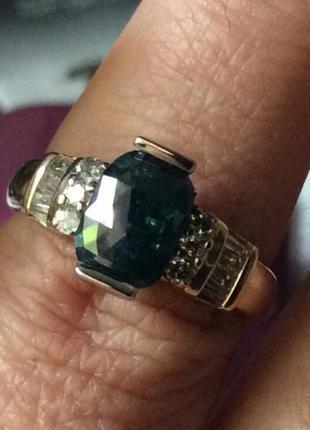 Золотое кольцо с бриллиантами 1.37 карат