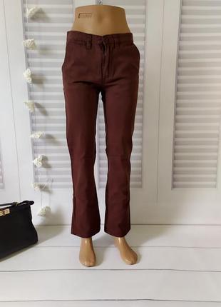 Джинсы брюки штаны коричневые 12-13 лет, s