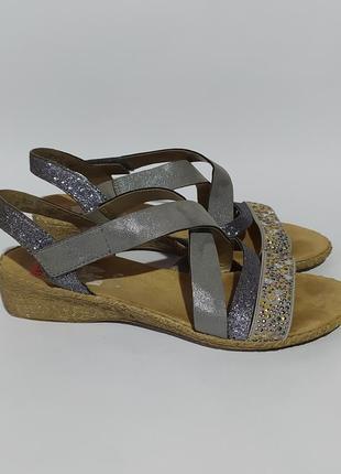 Rieker оригинал нарядные кожаные босоножки сандалии раз 38 37.5