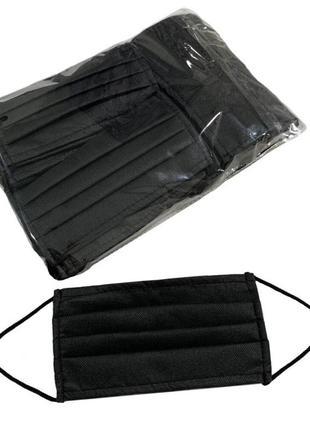 Черные маски заводские с зажимом 70 штук