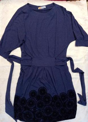 Платье с рукавами летучая мышь.