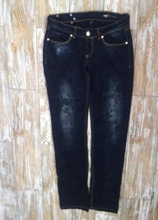 Стильные тонкие брюки под джинс с рисунком.с,44