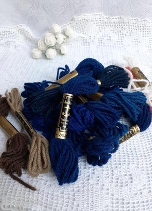 Шерстяное мулине anchor wool нити нитки  сша великобритания набор 16 шт