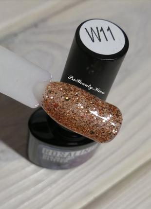 W11 гель лак rosalind 10 мл золото глиттер diamond glitter probeauty