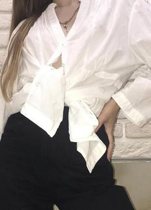 Рубашка белая оверсайз