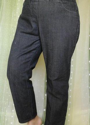 Комфортные джинсы для рабочих моментов, пояс на резинке, большой размер, средний рост