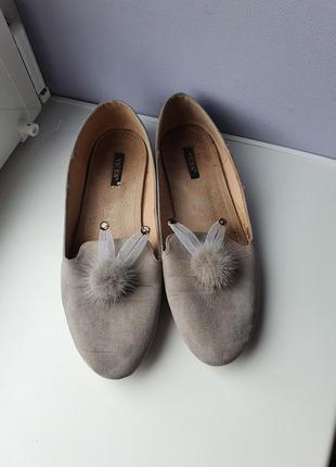Актуальные замшевые балетки туфли лоферы