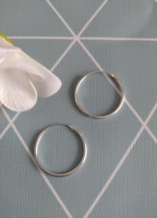 Срібні сережки кільця, серебряные серьги кольца, круглые сережки kingsley ryan asos