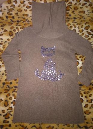 Теплое, вязаное платье