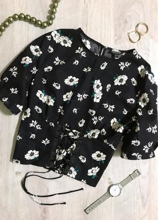 Блуза/рукавчик фанаріком/квітковий принт/ніжна блуза/блузка/відкрита спинка/акція.