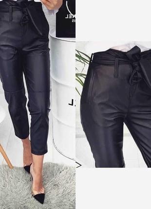 Брюки штаны из эко-кожи