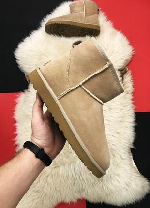 Женские зимние угги/сапоги/ботинки ugg mini brown коричневого цвета на меху 😻