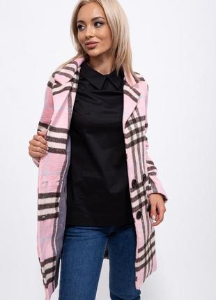 Пальто женское цвет розовый