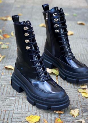 Рр 36-40 осень(зима) натуральная кожа ботинки