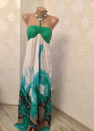 Длинные сарафан платье плаття в пол хлопок красивый стильный модный