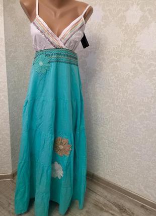 Длинный красивый сарафан платье плаття в пол