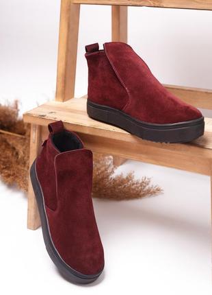 Ботинки натуральная итальянская замша р32-41 хайтопы слипоны сапоги чоботи хайтопи