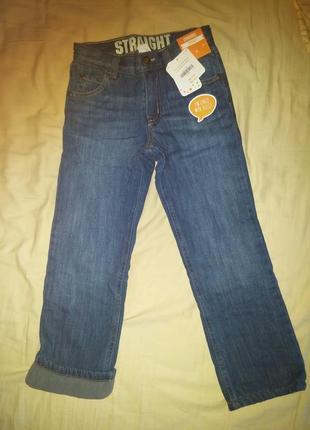Качественные джинсы на флисе gymboree