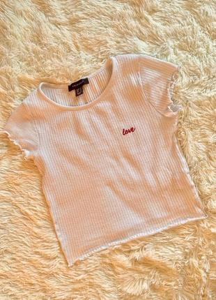 Белая футболка love primark