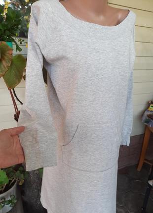 Серое платье на баечке