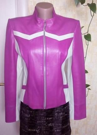 Роскошная 100% кожаная мягкая куртка/куртка/косуха/бомбер/пиджак/жакет/пуховик