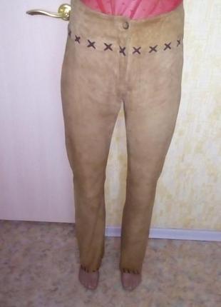 Отличные брюки из натуральной мягчайшей замши/кожаные брюки/брюки/штаны