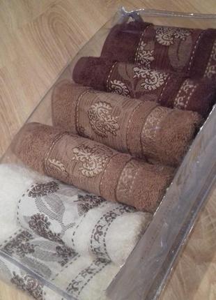 Набор полотенец vip коллекции размер 100*50 см турция