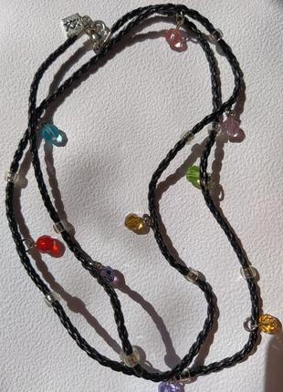 Ожерелье с разноцветными бусинами xx
