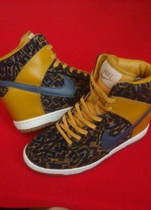 Кроссовки сникерсы nike dunk sky hi sneakers оригинал 36-37 размер