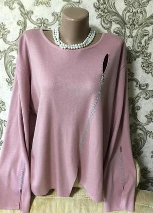 Шикарный свитер италия размер 58 60