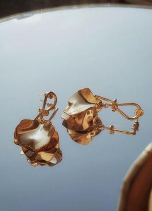 Сережки серьги кульчики золотые